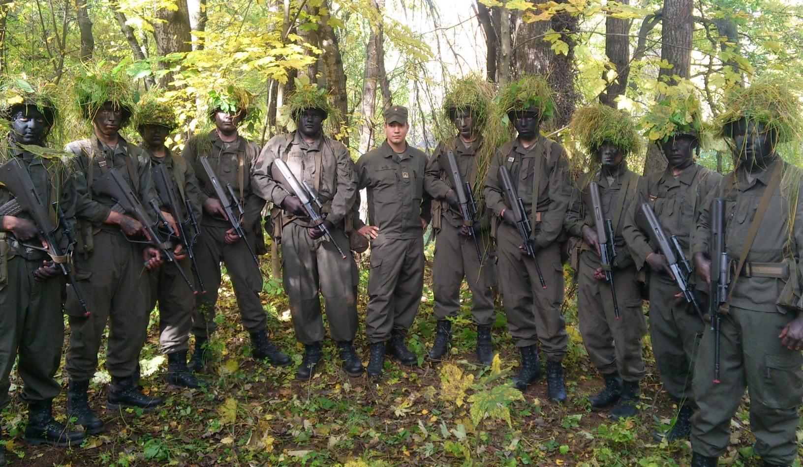 Ausbildung von Rekruten in der BA1